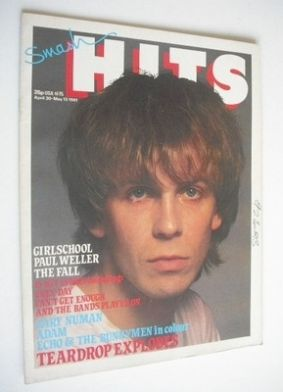 <!--1981-04-30-->Smash Hits magazine - Julian Cope cover (30 April-13 May 1