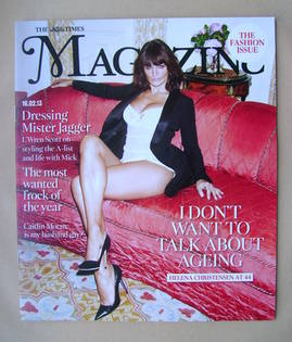 <!--2013-02-16-->The Times magazine - Helena Christensen cover (16 February
