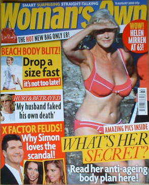 <!--2008-08-11-->Woman's Own magazine - 11 August 2008 - Helen Mirren cover