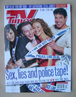 <!--2001-01-27-->TV Times magazine - The Bill cover (27 January-2 February