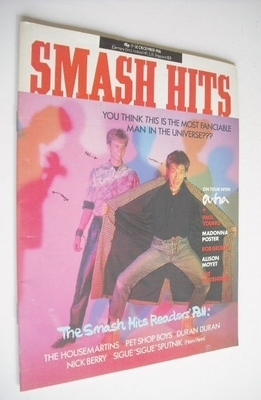 <!--1986-12-17-->Smash Hits magazine - A-Ha cover (17-30 December 1986)