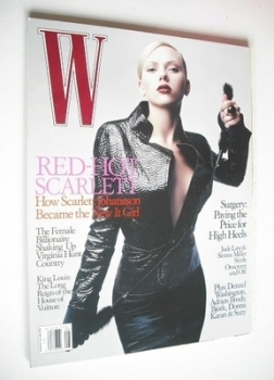 W magazine - August 2004 - Scarlett Johansson cover