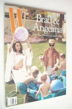 W magazine - July 2005 - Brad Pitt and Angelina Jolie cover