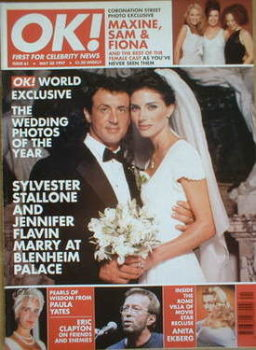 OK! magazine - Sylvester Stallone and Jennifer Flavin wedding cover (30 May 1997 - Issue 61)