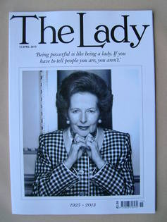 <!--2013-04-12-->The Lady magazine (12 April 2013 - Margaret Thatcher cover