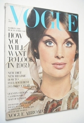 <!--1969-01-->British Vogue magazine - January 1969 - Jean Shrimpton cover