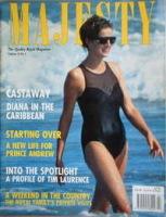 <!--1993-02-->Majesty magazine - Princess Diana cover (February 1993 - Volume 14 No 2)