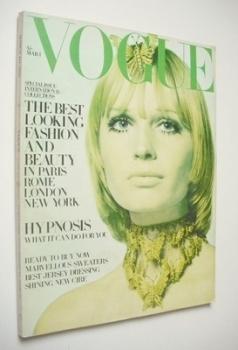 British Vogue magazine - 1 March 1969 - Sue Murray cover