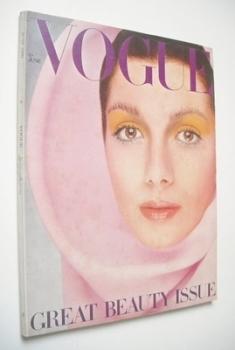 British Vogue magazine - June 1969 - Ingmari Lamy cover