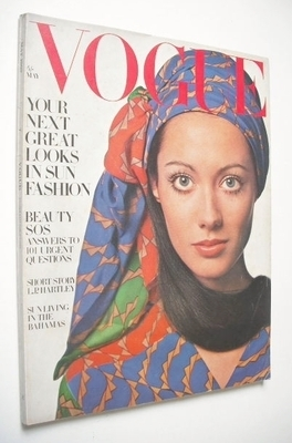 <!--1969-05-->British Vogue magazine - May 1969 - Moyra Swann cover