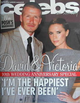 <!--2009-06-28-->Celebs magazine - David Beckham and Victoria Beckham cover