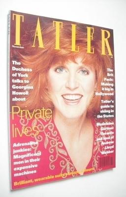 <!--1991-11-->Tatler magazine - November 1991 - Sarah Ferguson cover