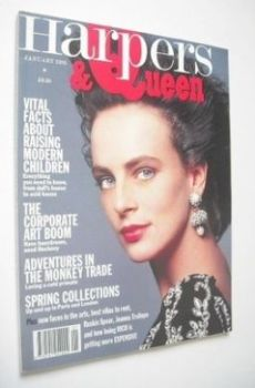 British Harpers & Queen magazine - January 1989