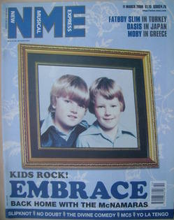 NME magazine - Danny and Richard McNamara cover (11 March 2000)