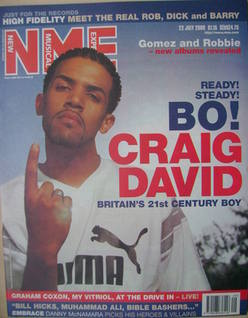 <!--2000-07-22-->NME magazine - Craig David cover (22 July 2000)