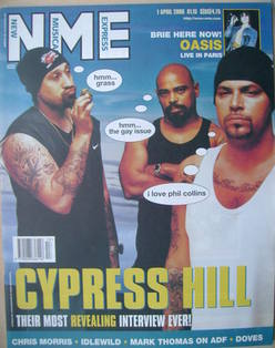 <!--2000-04-01-->NME magazine - Cypress Hill cover (1 April 2000)