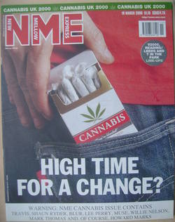NME magazine - High Time For a Change? cover (18 March 2000)