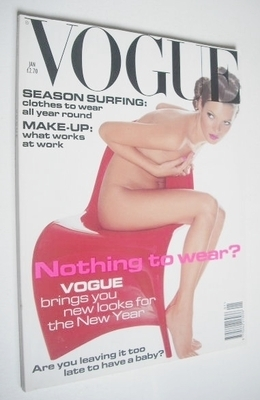 <!--1995-01-->British Vogue magazine - January 1995 - Kate Moss cover