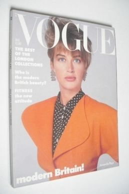 <!--1986-08-->British Vogue magazine - August 1986 - Amanda Pays cover