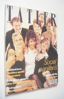 <!--1990-11-->Tatler magazine - November 1990 - Social Papillons cover