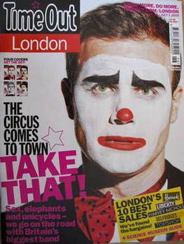 <!--2009-06-25-->Time Out magazine - Gary Barlow cover (25 June - 1 July 20