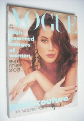 <!--1988-04-->British Vogue magazine - April 1988 - Christy Turlington cove
