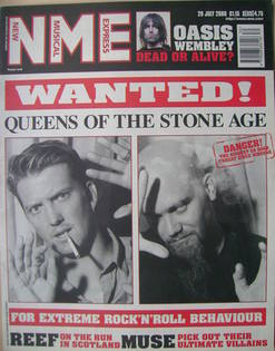 <!--2000-07-29-->NME magazine - Queens Of The Stone Age cover (29 July 2000