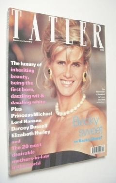 <!--1990-12-->Tatler magazine - December 1990 - The Marchioness of Blandfor