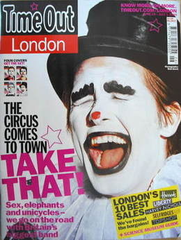 Time Out magazine - Mark Owen cover (25 June - 1 July 2009)