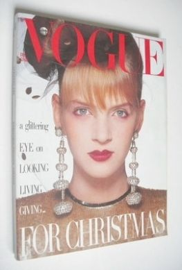 <!--1985-12-->British Vogue magazine - December 1985 - Uma Thurman cover