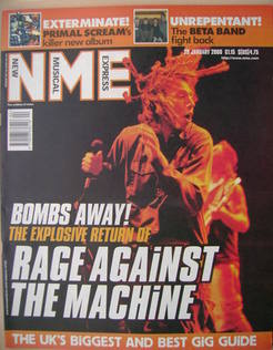 NME magazine - Rage Against The Machine cover (29 January 2000)