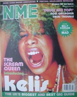 NME magazine - Kelis cover (26 February 2000)