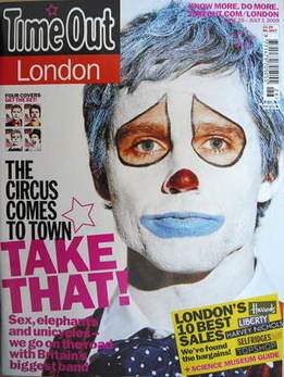 <!--2009-06-25-->Time Out magazine - Jason Orange cover (25 June - 1 July 2
