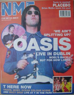 <!--2000-07-15-->NME magazine - Liam Gallagher cover (15 July 2000)