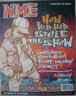 <!--2001-02-10-->NME magazine - How Hip-Hop Stole the Show cover (10 Februa