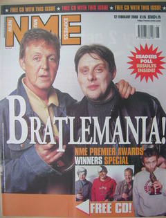 NME magazine - Paul McCartney and Shaun Ryder cover (12 February 2000)