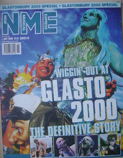 <!--2000-07-01-->NME magazine - Glasto 2000 cover (1 July 2000)