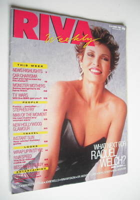 <!--1988-10-25-->Riva magazine - 25 October 1988 - Raquel Welch cover