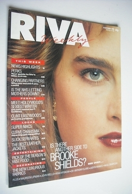 <!--1988-10-18-->Riva magazine - 18 October 1988 - Brooke Shields cover