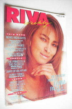 Riva magazine - 11 October 1988 - Joanna Pacula cover