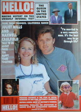 <!--1991-05-25-->Hello! magazine - Juliet Mills and Maxwell Caulfield cover