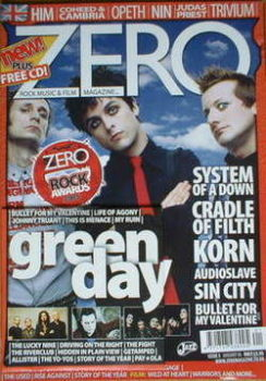 ZERO magazine - Green Day cover (January 2006 - Issue 5)