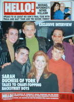 <!--1998-02-21-->Hello! magazine - Backstreet Boys cover (21 February 1998