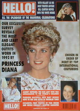 <!--1993-01-30-->Hello! magazine - Princess Diana cover (30 January 1993 -