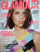 <!--2001-08-->Glamour magazine - Sadie Frost cover (August 2001)