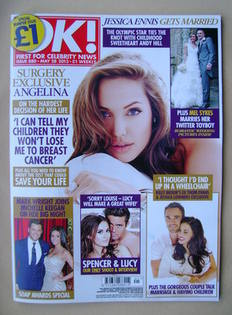 <!--2013-05-28-->OK! magazine - Angelina Jolie cover (28 May 2013 - Issue 8