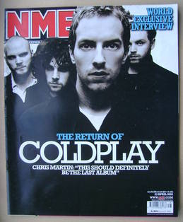 <!--2005-04-23-->NME magazine - Coldplay cover (23 April 2005)