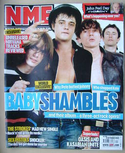 <!--2005-10-08-->NME magazine - Babyshambles cover (8 October 2005)