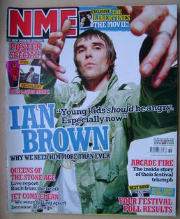 <!--2005-09-10-->NME magazine - Ian Brown cover (10 September 2005)