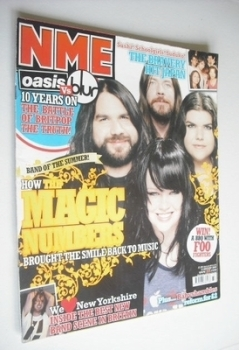 NME magazine - The Magic Numbers cover (13 August 2005)